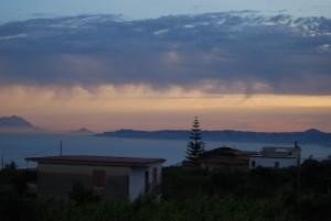 Fuocomuorto, il tramonto dall'agriturismo