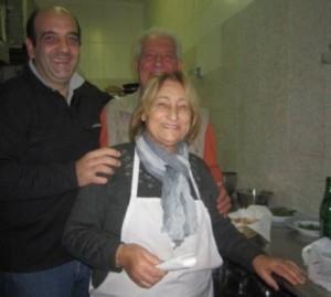 La famiglia Formato, da sx Gaetano cantiniere factotum, il padre Francesco e Mamma Angela - foto di Giulia Cannada Bartoli