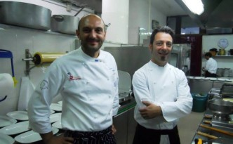 Da sinistra: Tommaso Morone del ristorante Panorama di Caggiano e Giuseppe Misuriello dell'Antica Osteria Marconi di Potenza
