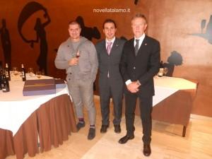 da sinistra: Pino Della Pietra, Giuseppe Lupo, Vincenzo Isoldi