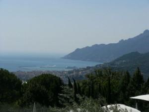 il Golfo di Salerno visto dal ristorante Emozionando