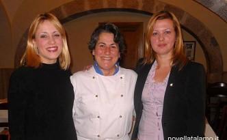Rosa Rocco tra Enrica Cotarella (a sx) e Novella Talamo