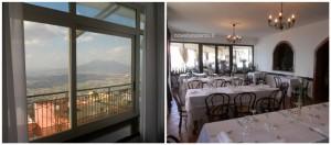Nonna Giulia, la vista dal tavolo e la sala