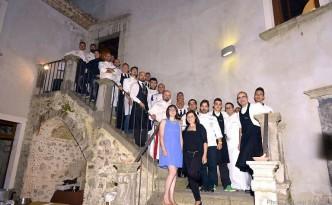 I protagonisti della serata e tutto lo staff dell'organizzazione
