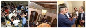 il pubblico e una delle sale del Castello Normanno del Guiscardo di Teggiano