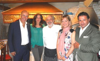 Da sinistra: Antonio Fumarola (Perlage), Vania Faccincani, Massimilla Di Serego Alighieri, Angelo Munno (Perlage)