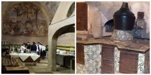 il refettorio della Certosa di San Lorenzo, la cucina