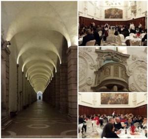 la Certosa di San Lorenzo, la sala del refettorio con il pulpito in marmo