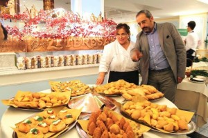 Il Natale Campano in Tavola, Carmela Abbate con Giustino Catalano
