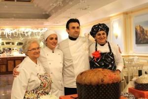 Il Natale Campano in Tavola, da sinistra Angelina Ceriello, Antonella Iandolo, Pasquale Marigliano e Giovanna Voria