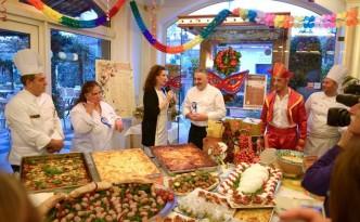 Alla tavola di Rugantino e Pulcinella, un momento dell'evento