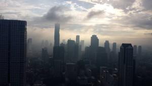Bangkok, una vista della metropoli all'alba da una delle suite del Lebua – foto di Novella Talamo