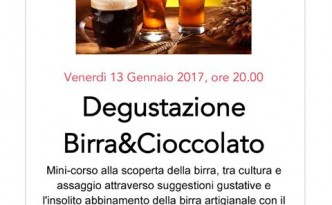 Birra & Cioccolato, mini-corso di avvicinamento alla birra