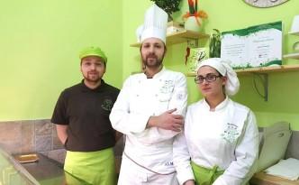 Il Giardino dei Golosi, Valerio Iannelli tra il fratello Marco e la compagna Flora Lambiase