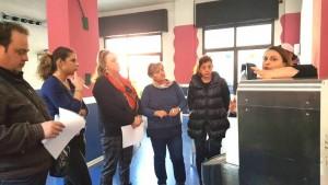 il laboratorio Slow Food sulla colomba, Helga Liberto e alcuni partecipanti