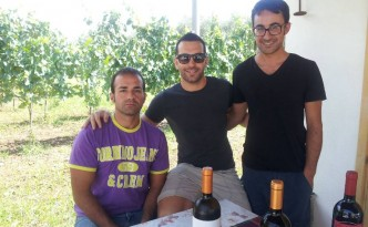 Casula Vinaria, da sinistra: Daniele Iuorio, Armando Ruggiero e Fiorello Iuorio - foto di Novella Talamo