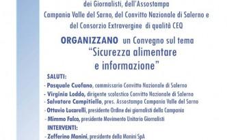 Convegno su sicurezza alimentare e informazione al Convitto Nazionale Torquato Tasso di Salerno