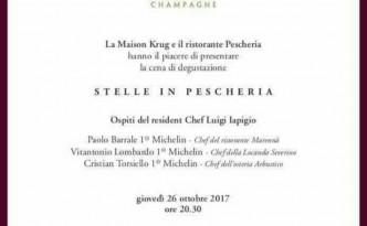 Da Pescheria a Salerno il 26 ottobre tre chef stellati per una serata con gli Champagne Krug