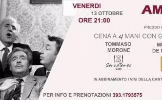 Cena a 4 mani con Tommaso Morone e Michele de Martino al ristorante Panorama di Caggiano