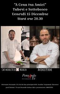 A cena tra amici, la serata al ristorante Pensando a Te con Antonio Petrone e Michele De Leo