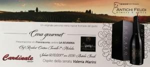 Cena gourmet ad Antichi Feudi con Cristian Torsiello e Valeria Marini - Locandina