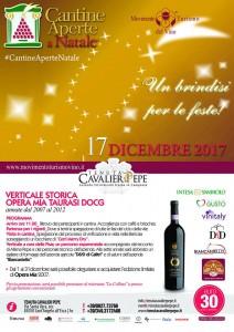 Cantine Aperte a Natale alla Tenuta Cavalier Pepe. Verticale del Taurasi Opera Mia