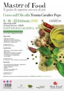Corso sull'olio alla Tenuta Cavalier Pepe con Slow Food