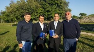 EVO International Olive Oil Contest, da destra Gaetano Avallone, Piero Matarazzo, Silverio e Aldo Bufano