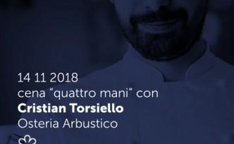 Lo stellato Cristian Torsiello a Casamare per una serata con Michele de Martino