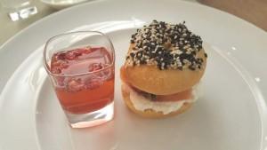 Settanta Neo Bistrot, bagel con mescal