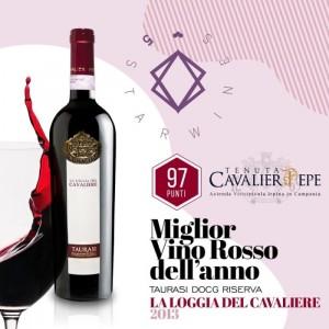 La Loggia del Cavaliere Taurasi  Riserva 2013 di Tenuta Cavalier Pepe miglior vino rosso d'Italia