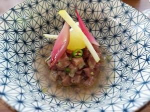 Il Principe, Ceviche di tonno rosso, mela verde al cetriolo, cetriolo alla mela verde e peperoncino